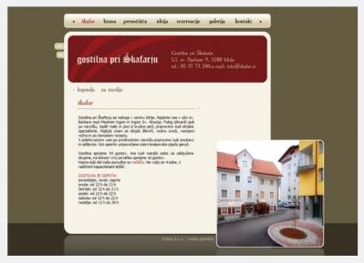Spletna stran Gostilna Škafar