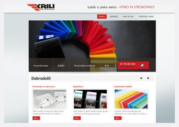 Spletna stran Krili
