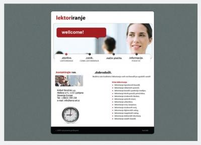 Spletna stran Lektoriranje