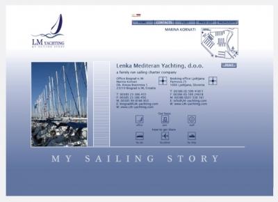 Spletna stran LM yachting