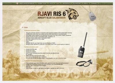 Spletna stran Rjavi Ris