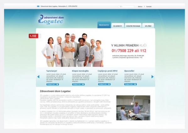 Spletna stran ZD Logatec