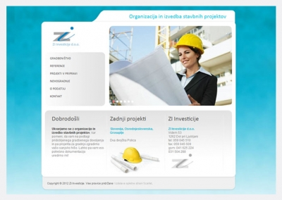 Spletna stran Zi Investicije