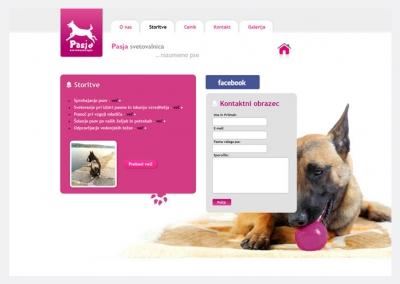 Spletna vizitka Pasja svetovalnica